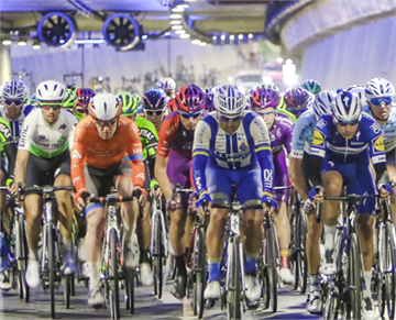 World Famous Cyclists Passed Through Eurasia Tunnel in the 55th...